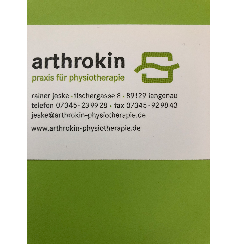 Logo von arthrokin-physiotherapie rainer jeske